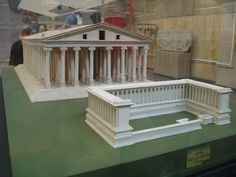 Model reconstructing the appearance of the lost Temple of Artemis / Diana at Ephesus, one of the Seven Ancient Wonders of the World, displayed in the Ephesus Museum, situated close to the Temple's site.