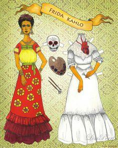 Frida Kahlo paper doll | da LisaPerrinArt
