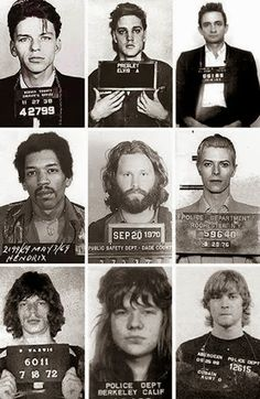 Bad boys :) Frank Sinatra, Elvis Presley, Johnny Cash, Jimi Hendrix, Jim Morrison, David Bowie, Mick Jagger, Janis Joplin , Kurt Cobain
