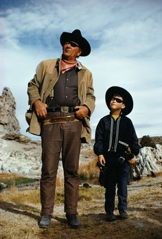 John Wayne with son Ethan