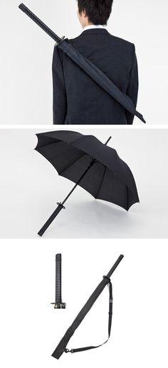 I hear the rains! fight back!  Samurai Sword Umbrella
