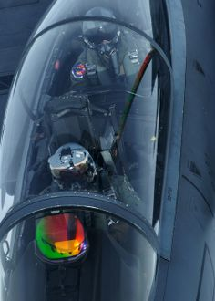 F-15E...check out the aircraft reflection in the HUD!