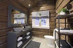 Bilderesultat for design hytte fjellet Cabin Homes, Log Homes, Cabin Porches, Building A Cabin, Cabin Bathrooms, Mountain Cottage, Basement Inspiration, Dere, Cabana