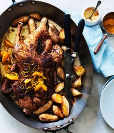 Slow-roast duck with orange. I always pick duck when it's on the menu.