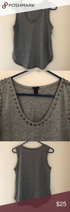 J crew top Embellished top J. Crew Tops Tank Tops