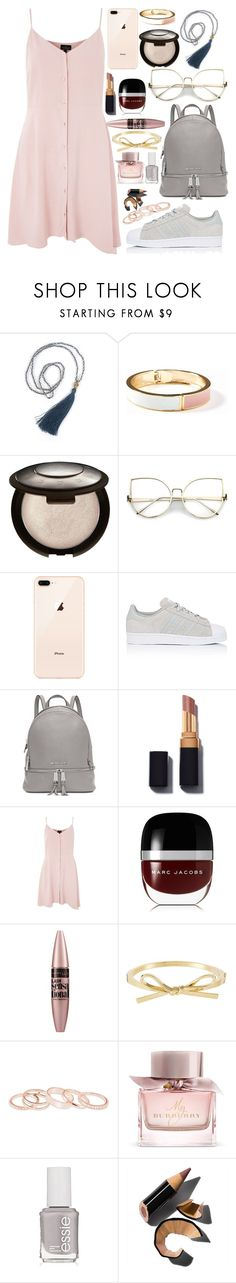 """""""School Daze"""" by skates03 ❤ liked on Polyvore featuring Old Navy, adidas, Michael Kors, Topshop, Marc Jacobs, Maybelline, Kendra Scott, Burberry, Essie and Bobbi Brown Cosmetics"""