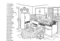Adverbios de lugar/Place adverbs/La cocina