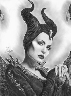 MALEFICENT-high quality prints of my pencil works, various sizes (artwork-print-draw) Disney Drawings Sketches, Marvel Drawings, Art Drawings Sketches Simple, Pencil Art Drawings, Realistic Drawings, Portrait Sketches, Horse Drawings, Pencil Portrait, Drawing Art