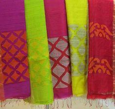 Matka silk sarees with Jamdani pallu from Tanabanaa
