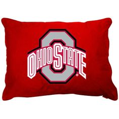 Ohio State University Pillow Sham with Jersey Mesh
