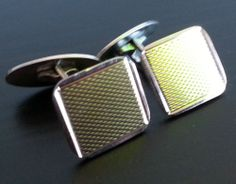 Rare Gilded solid silver ornamented cuff links Denmark Ela 925 S