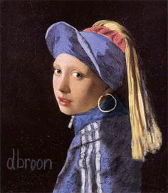 Girl With a Pearl Earring parody