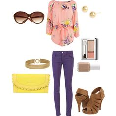 Purple + Yellow MWUB Spring12, created by midwesturbanite on Polyvore #casual #style #yellow