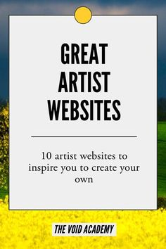 Great inspiration for artists looking to launch their own websites