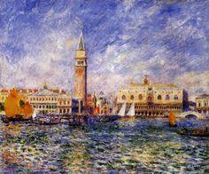 Pierre Auguste Renoir - The Doges' Palace Venice.