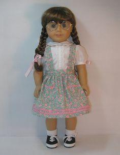 1944-1124  American Girl Doll Clothes, 18 inch doll clothing Dirndl Skirt Molly Emily. $15.00, via Etsy.