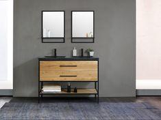 Double Vanity, Master Bathroom, Art Deco, Inspiration, Home, Modern Bathrooms, Restroom Decoration, Bathroom Sinks, Little Cottages