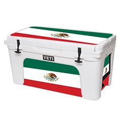 MightySkins Protective Vinyl Skin Decal for YETI Tundra 75 qt Cooler wrap cover sticker skins Mexican Flag *** Learn more by visiting the image link.(This is an Amazon affiliate link)