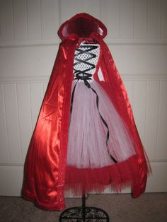 Little Red Riding Hood inspired Tutu dress by MonkeyTutus - Claire wants to be little red