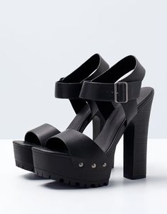 Bershka Turkey - Bershka platform heeled sandals