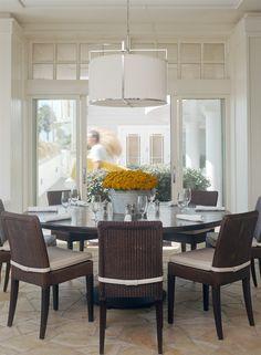 Gorgeous interior dinning area at Coast Beach Café, Santa Monica, California.