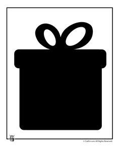 Printable Christmas Templates, Shapes and Silhouettes Christmas Present Printable Template – Craft Jr.