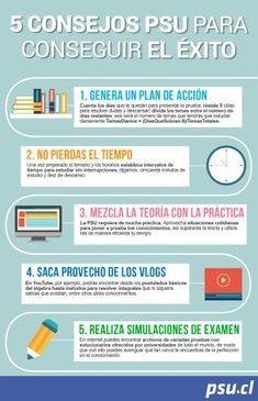Infografía: 5 consejos PSU para conseguir el éxito - PSU
