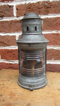 Light Nautical Boat Or Ship Oil Lamps Antique Old Ships Lantern