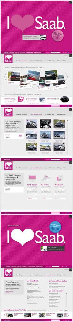I Love Saab Website #graphicdesign #webdesign #design #website #layout