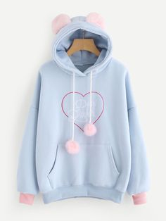 Hoodie online SheIn offers Slogan Embroi Shop Slogan Embroidery Kangaroo Pocket Hoodie online SheIn offers Slogan Embroi Source by thecellomanShop Slogan Embroidery Ka. Girls Fashion Clothes, Teen Fashion Outfits, Girl Outfits, Cute Casual Outfits, Stylish Outfits, Mode Kawaii, Stylish Hoodies, Vetement Fashion, Kawaii Clothes