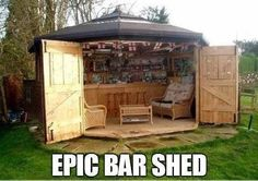 I would change the wicker furniture to something more modern and add a window behind the bar to open up the space but this would be awesome