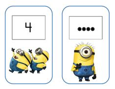 Minion Math cards with # Minion Classroom Theme, Minion Theme, Classroom Themes, Rhyming Games, Pete The Cats, Balanced Literacy, Numbers Preschool, All Themes, Circle Time