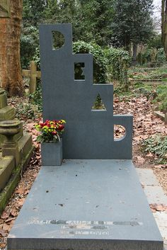 DEAD Funny Tombstone - photo by MartinRJensen, via Flickr;  at Highgate Cemetery in London, England