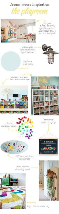 playroom rug wall paint color inspiration cubbies