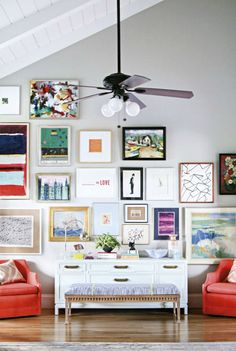 How to create an art gallery wall that rocks |  Here are a few tips and tricks to help you get started.