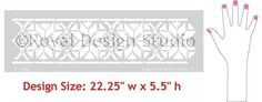 Moroccan Stencils | Star Border Stencils | Royal Design Studio