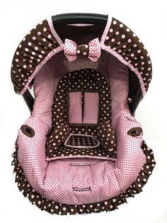 CAPA PARA BEBÊ CONFORTO + ACOLCHOADO | Ateliê Dianinha Baby | Elo7 Baby Doll Car Seat, Baby Car Seats, Girl Room, Baby Room, Baby Nest Pattern, Prams, Reborn Baby Dolls, Baby Sewing, Baby Dress