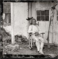 1863 photo of John L. Burns, War of 1812 veteran and sharpshooter in the Battle of Gettysburg.