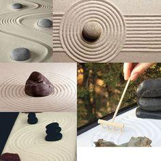 Amazon.com: Zen Garden 6 Tines Rake Bamboo Tool Mini Art Desktop Decoru2026