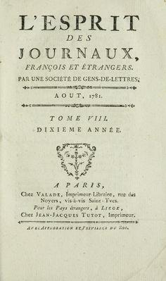 LEsprit des journaux français et étrangers