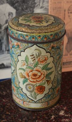 Antique Dutch tin box