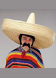 Chapeau mexicain de très grand Sombrero paille XXL  Amazon.fr  Jeux et  Jouets a88b44307f7