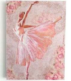 Wall Picture Plaque , Vintage Retro style Hand Made / Ballet / Decoupage