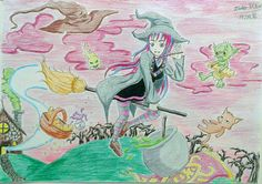 The witch going for an adventure with your friends by JoaoRibeiro123.deviantart.com on @DeviantArt