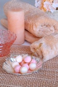 DIY bath beads. Makes great gifts too.