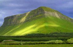 Benbulben Mountain, Co. Sligo, Ireland - Said to be the dwelling of The Fianna in ancient times.