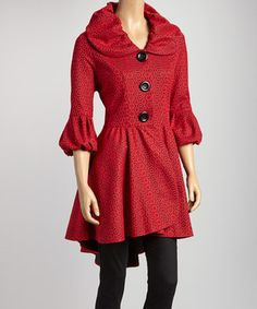 Look at this #zulilyfind! Red & Black Geometric Lace Jacket by Come N See #zulilyfinds
