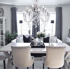 ✨God kveld✨ ---------------------------------------- ✨Good inspire my home decor - Home Inspiration Elegant Dining Room, Dining Room Design, Dining Rooms, Interior Design Living Room, Living Room Decor, Interior Decorating, Muebles Living, Inspire Me Home Decor, Interior Inspiration