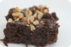 Coconut Flour Zucchini Dark Chocolate Brownies by www.mamaeatsclean.com - has agave nectar will sub in applesauce and another allowable sweetener instead