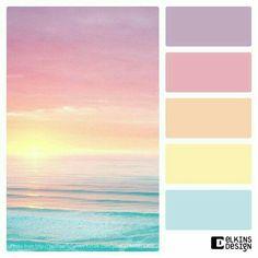 Color Palette Paint Inspiration Paint Colors Paint Palette Color Design Ins. Pastel Color Scheme, Colour Pallette, Colour Schemes, Pastel Colors, Color Combos, Pastel Palette, Lip Colors, Sunset Palette, Ocean Color Palette